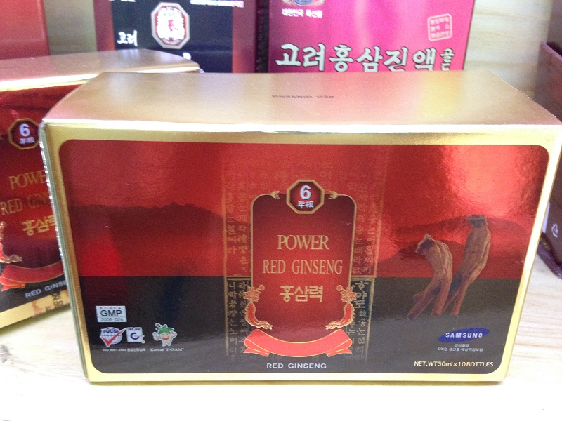 Nước hồng sâm 10 chai x 50ml Bio-science Power Red Ginseng