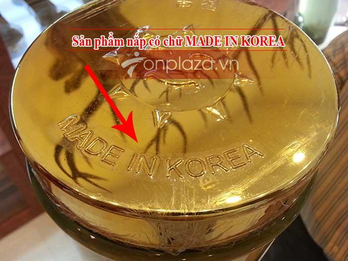 Bình rượu sâm nguyên củ Hàn Quốc loại 4 củ 10 lít