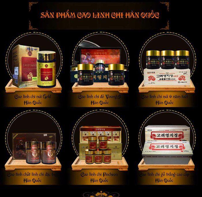 có nhiều sản phẩm cao linh chi đỏ Hàn Quốc