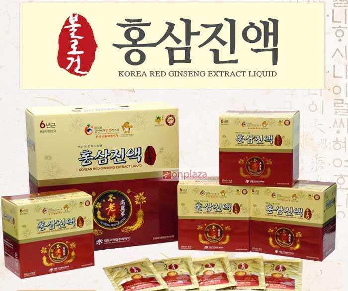 Tinh chất hồng sâm 6 năm tuổi Daedong 100% 60 gói x 80ml