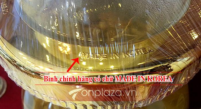 Bình sâm nguyên củ Hàn Quốc số 16, loại 4 củ - 13 lít