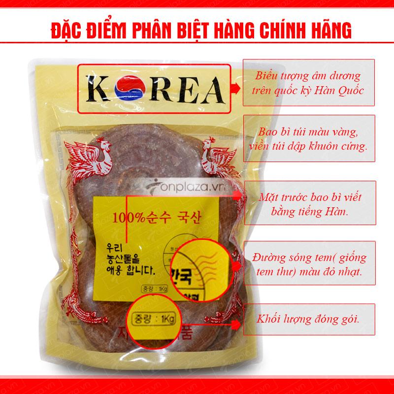 Nấm linh chi tai đỏ 6 năm tuổi Hàn Quốc