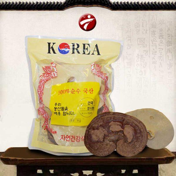 Nấm linh chi vàng Hàn Quốc túi 3-6 tai L005