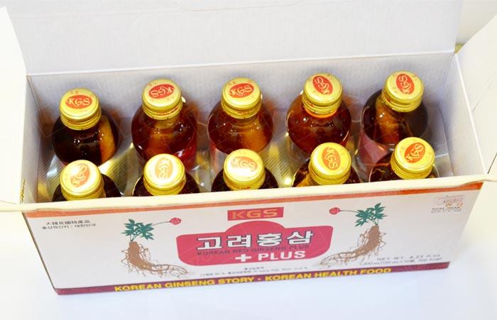 Nước uống hồng sâm KGS có củ cao cấp NS049 3