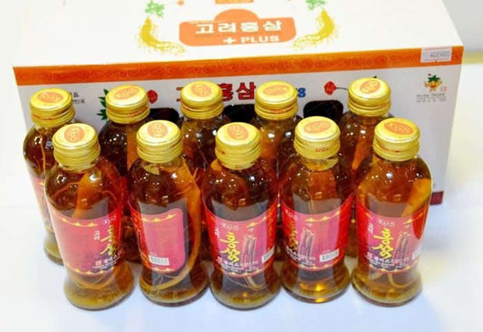 Nước uống hồng sâm KGS có củ cao cấp NS049 4