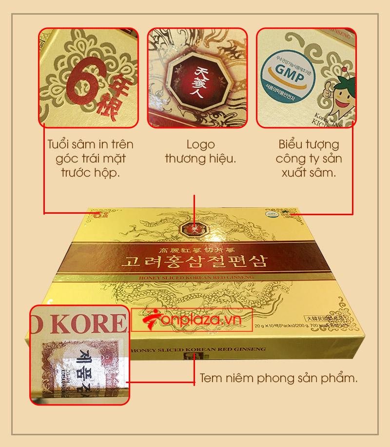 Hồng Sâm lát tẩm mật ong BIO APGOLD Hàn Quốc 2