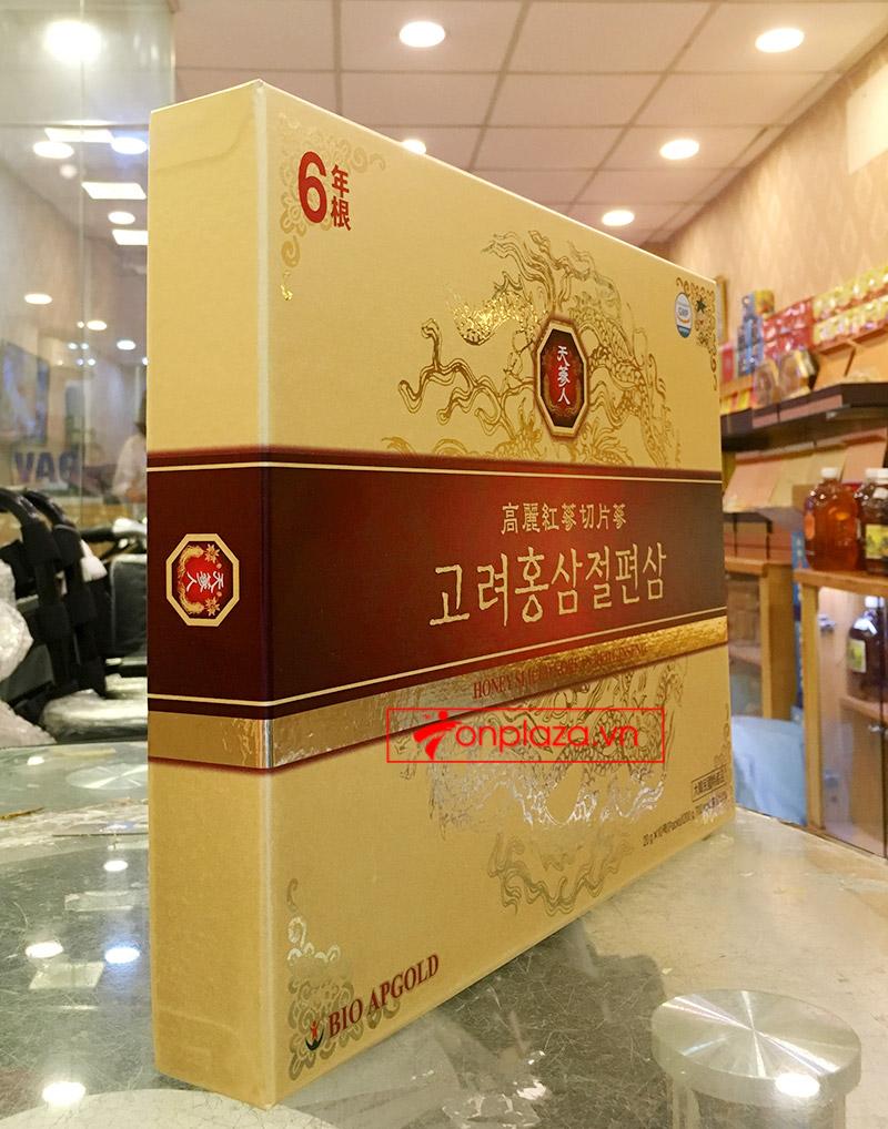 Hồng Sâm lát tẩm mật ong BIO APGOLD Hàn Quốc 6Hồng Sâm lát tẩm mật ong BIO APGOLD Hàn Quốc 6