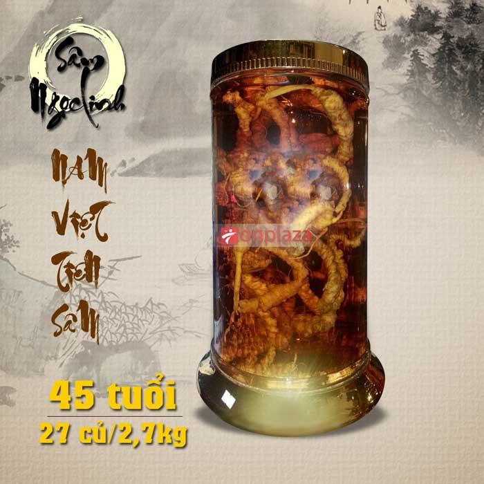 bình rượu Sâm Ngọc Linh