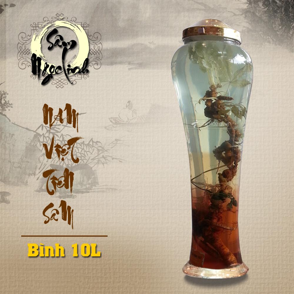 Bình ngâm sâm Ngọc Linh KG18 loại 10L NS232 2
