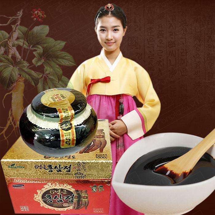 Cao hồng sâm Hàn Quốc hộp sứ xanh 1kg NS034 2