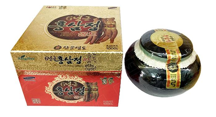 Cao hồng sâm Hàn Quốc hộp sứ xanh 1kg NS034 8