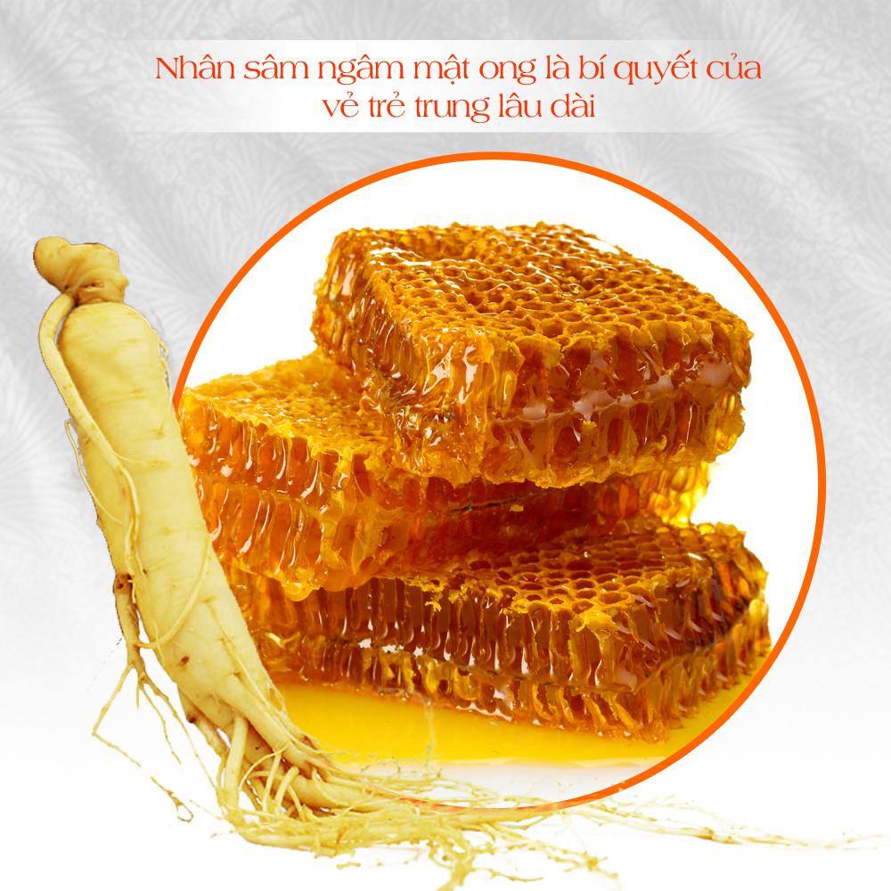 Chống lão hóa da hoàn hảo với nhân sâm Hàn quốc ngâm mật ong 2
