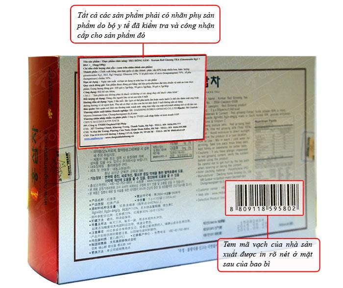 Trà hồng sâm 50 gói x 3g, 4mg/g – Daedong NS127 4
