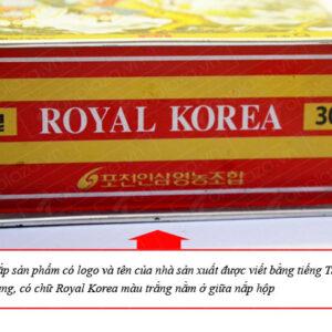 Hồng sâm nguyên củ sấy khô 75gr/ hộp ROYAL NS073 3