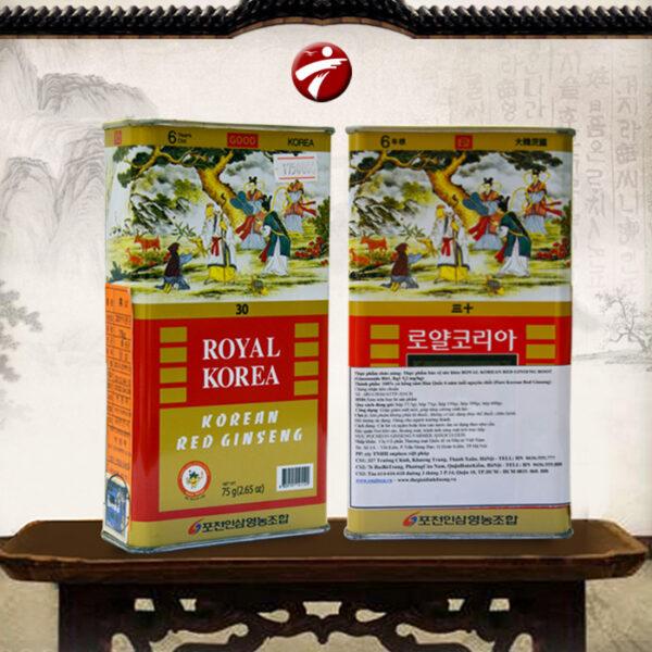 Hồng sâm nguyên củ sấy khô 75gr/ hộp ROYAL NS073