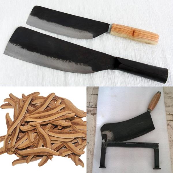 Nên dùng các loại dao to, chắc để thái nấm linh chi