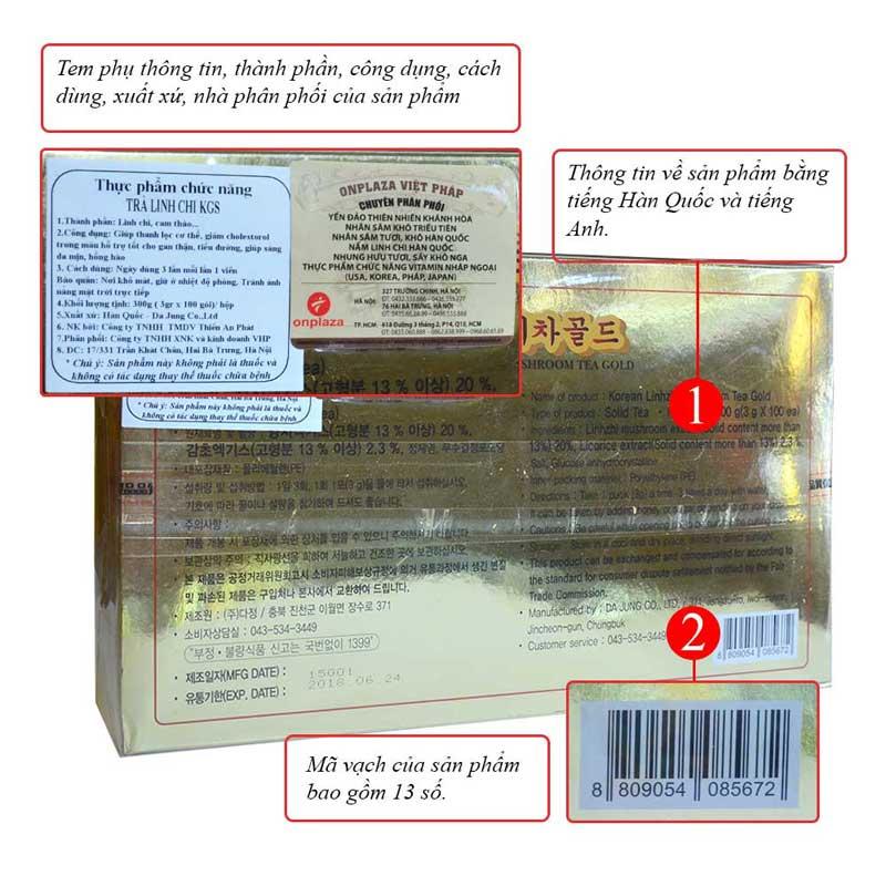 Trà Linh chi KGS hộp giấy 100 gói x 3gr L036 2