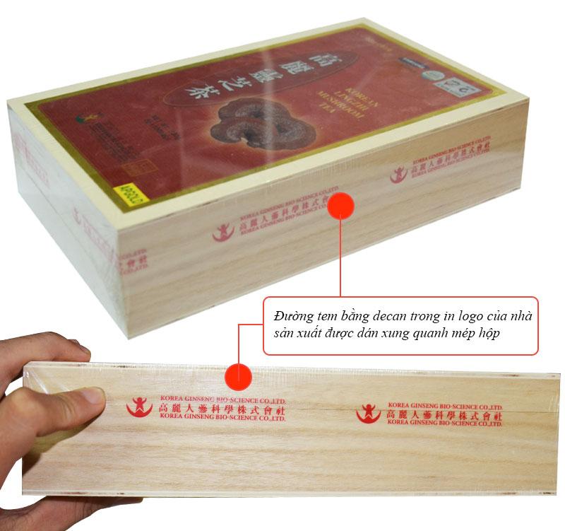 Trà linh chi KGS  hộp gỗ 100 gói x 3gr L110 4