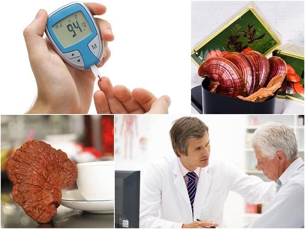nấm linh chi tác dụng tốt với bệnh tiểu đường