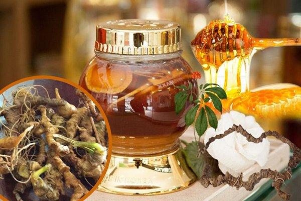 ngâm mật ong là một trong 2 cách sử dụng sâm ngọc linh mang lại hiệu quả cao