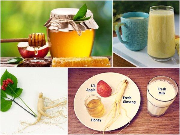 Sinh tố nhân sâm và sữa tốt cho sức khỏe người sử dụng