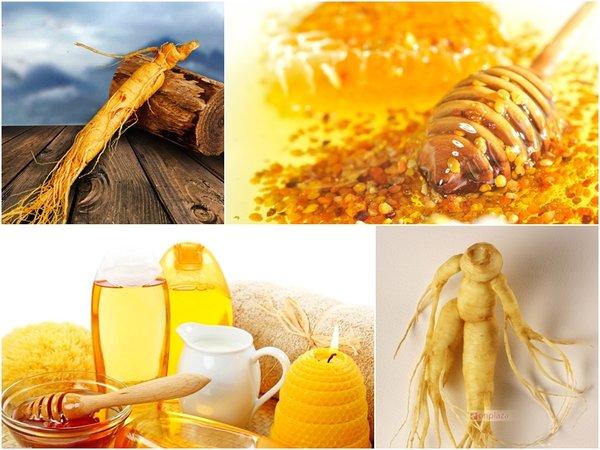 sử dụng nhân sâm và mật ong thường xuyên để tăng cường sức khoẻ