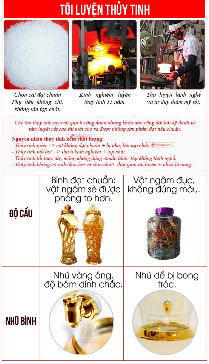 Bình ngâm sâm Ngọc Linh 3,8 lít cao cấp NS317 9