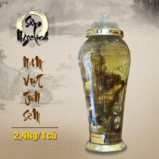 Bình sâm Ngọc Linh tự nhiên loại 2,4 kg/củ NS301