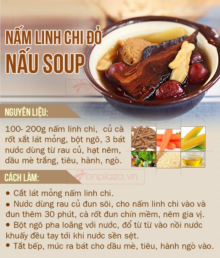nấm linh chi đỏ nấu sup