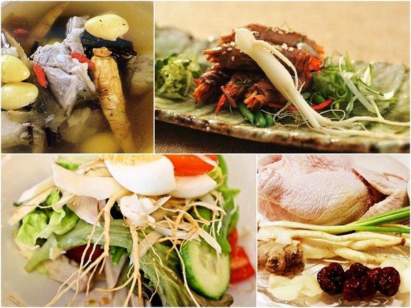 Món ăn từ nhân sâm chăm sóc sức khỏe tốt