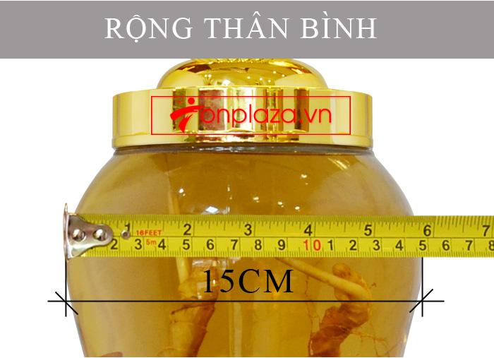 Bình sâm Ngọc Linh 3.5L củ nhỏ NS394 6