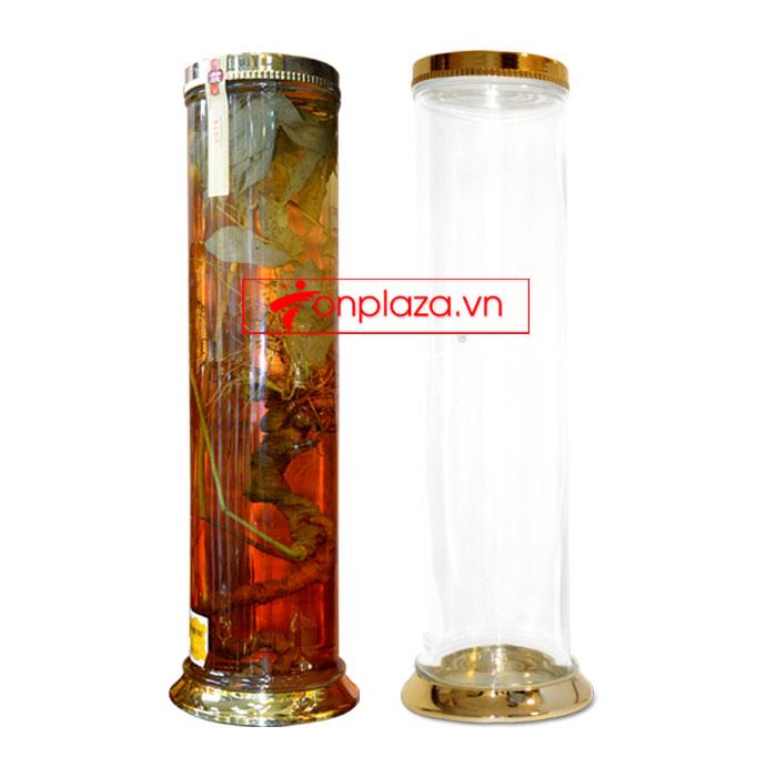 Bình sâm Ngọc Linh hình trụ dài củ to 20L (loại 10 củ/kg) NS327 3