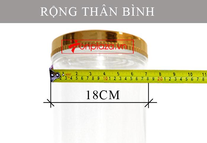 Bình sâm Ngọc Linh hình trụ dài củ to 20L (loại 10 củ/kg) NS327 5