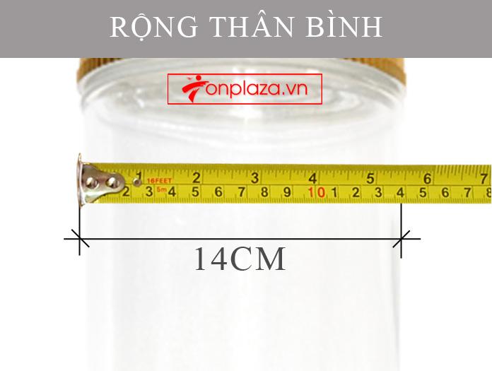 Bình sâm Ngọc Linh trụ dài 15L NS400 5