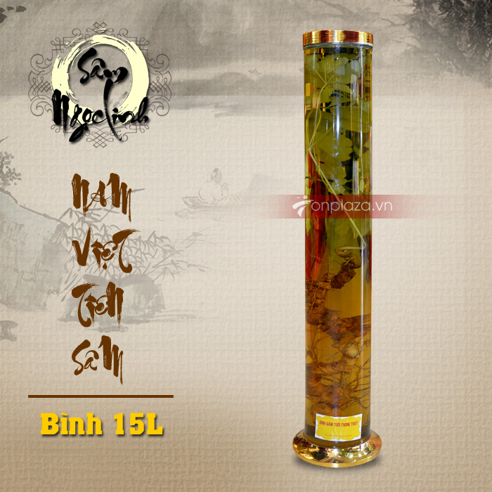 Bình sâm Ngọc Linh trụ dài 15L NS400