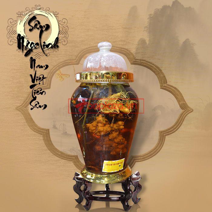 Bình ngâm sâm Ngọc Linh núi tươi loại 1,75 kg/củ 3