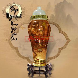 Bình ngâm sâm Ngọc Linh tự nhiên loại 2kg/củ