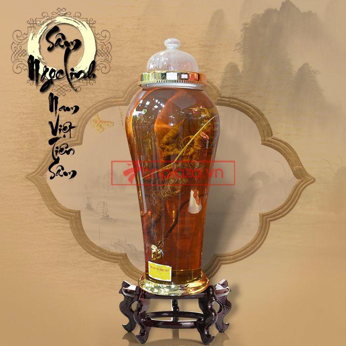 Bình ngâm sâm Ngọc Linh tươi 70 năm tuổi loại 1,65kg/củ 4