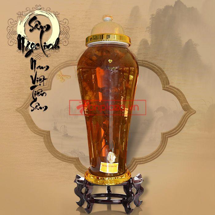 Bình ngâm sâm Ngọc Linh tươi loại 1,4 kg/củ 3