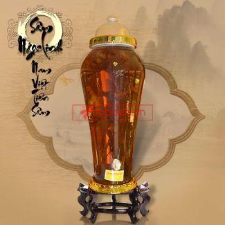 Bình ngâm sâm Ngọc Linh tươi loại 1,4 kg/củ