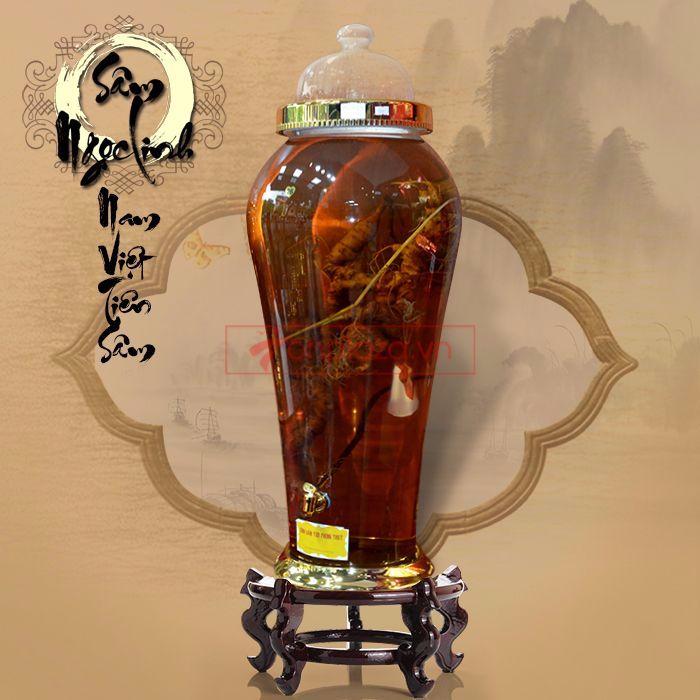 Bình ngâm sâm Ngọc Linh tươi loại 1,5kg/củ 4