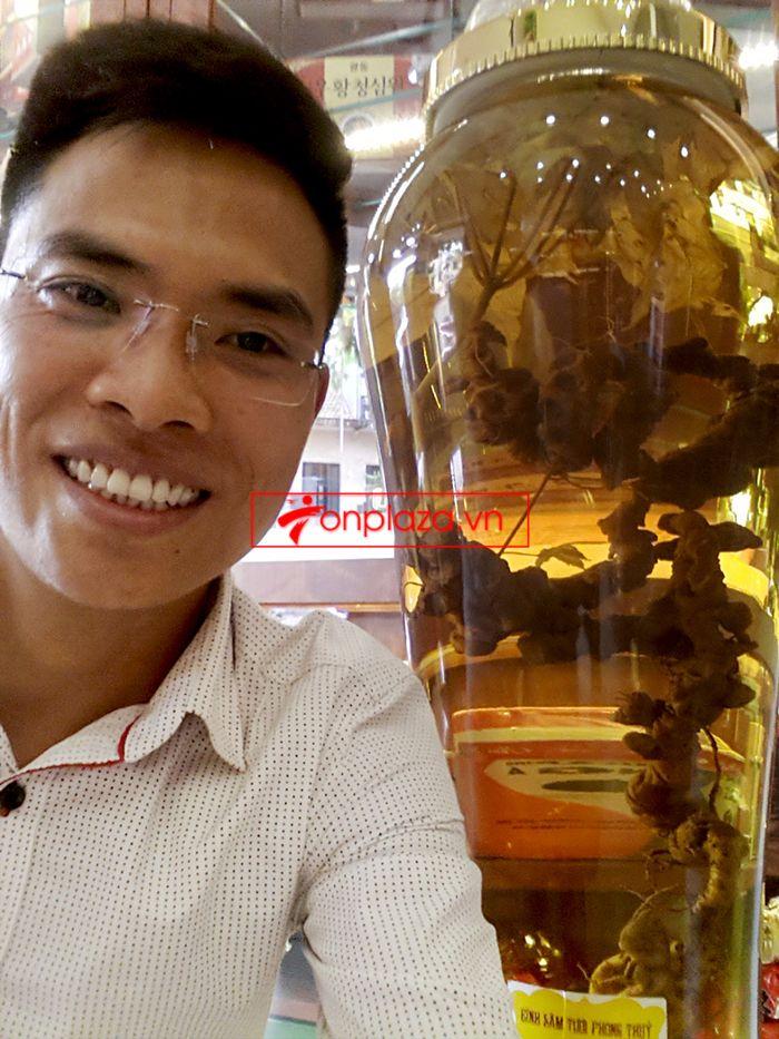 Bình ngâm sâm Ngọc Linh tươi 41 lít loại 2,3kg/củ 2