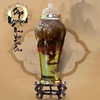 Bình ngâm sâm Ngọc Linh tươi 41 lít loại 2,3kg/củ