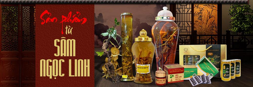 Các sản phẩm từ Sâm Ngọc Linh