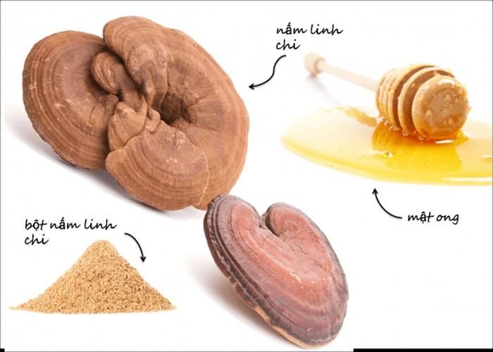 nấm linh chi kết hợp với mật ong cho ra cao linh chi mật ong