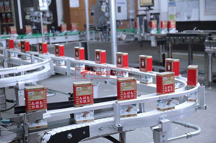 quy trình sản xuất và đống gói sp hồng sâm củ khô cao cấp chính phủ kgc hộp thiếc 5