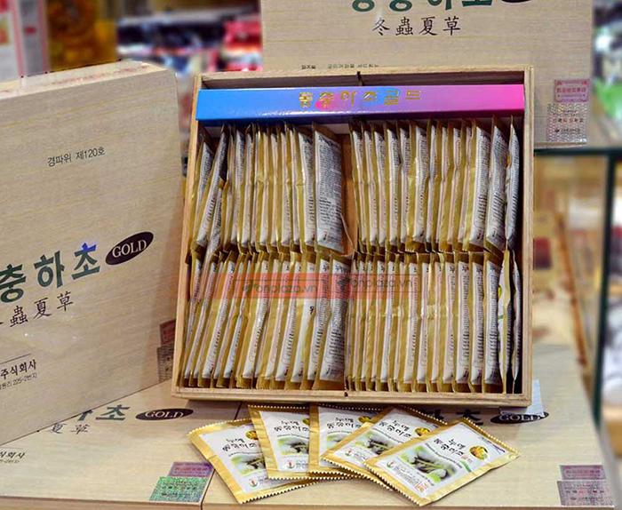 hình ảnh thức tế Nước đông trùng hạ thảo Samsung Hàn Quốc hộp gỗ (60 gói x 30ml) D044 3