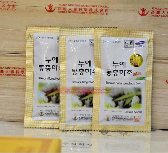 hình ảnh thức tế Nước đông trùng hạ thảo Samsung Hàn Quốc hộp gỗ (60 gói x 30ml) D044 4