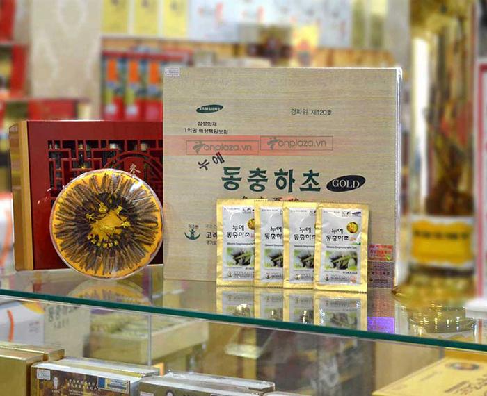 hình ảnh thức tế Nước đông trùng hạ thảo Samsung Hàn Quốc hộp gỗ (60 gói x 30ml) D044 5