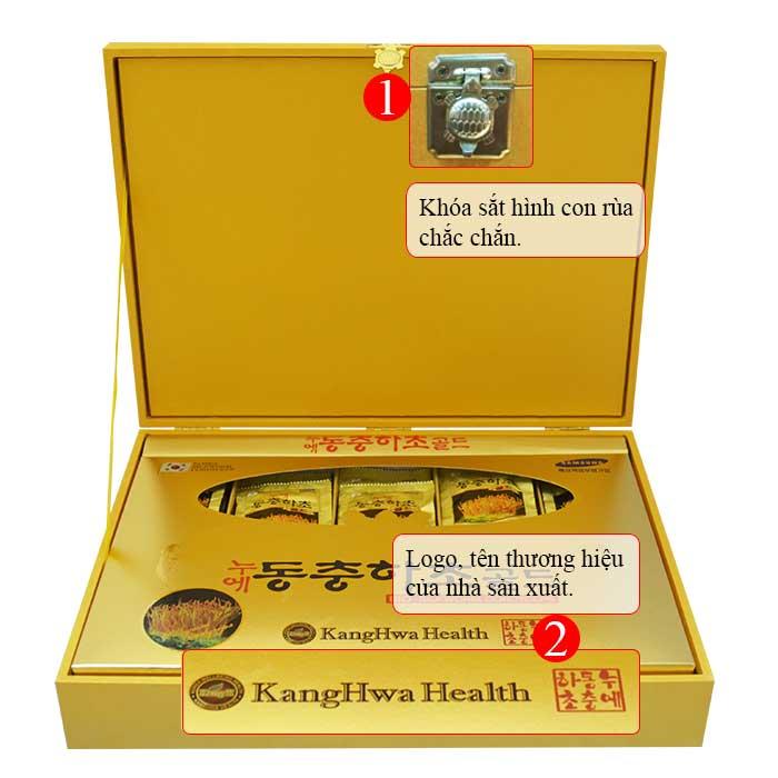 Nước Đông trùng hạ thảo Hàn Quốc hộp gỗ vàng cao cấp D043 2